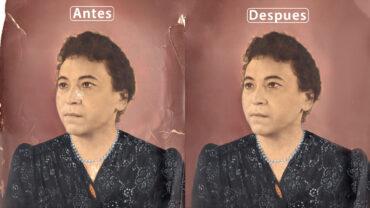 Antes y Después restauración fotográfica